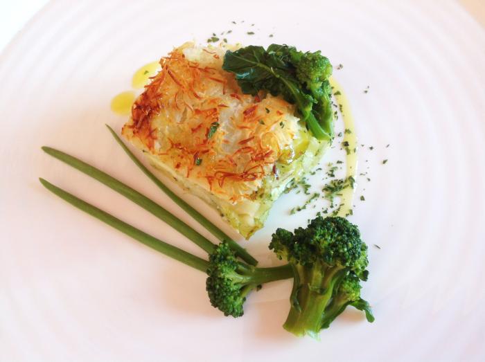 lasagna con besciamella di broccoli